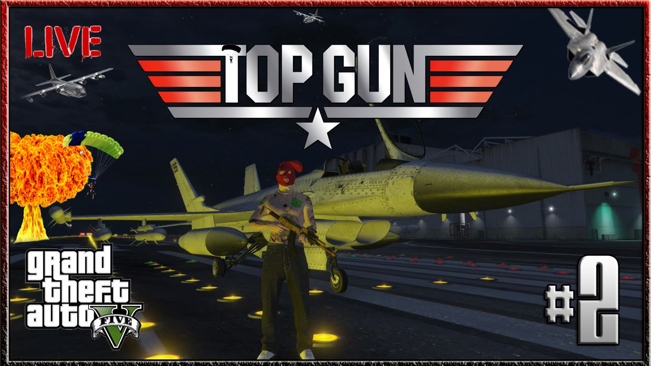 GTA 5 Top Gun Superman Stunts #2