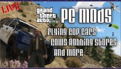 GTA 5 PC Mods - Flying Cop Cars, Cows Robbing Stores and More