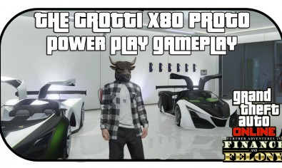 GTA 5 Online THE GROTTI X80 PROTO GTA 5 Online THE GROTTI X80 PROTO and New Power Play Gameplay   GTA 5 DLC PS4 Gameplay