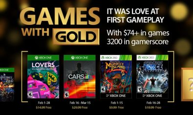 Xbox - February 2017 Games with Gold Play together with Xbox Live Gold. February 2017 Games with Gold lineup for Xbox One includes Lovers in a Dangerous